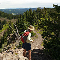 Hiking Crag Crest Trail